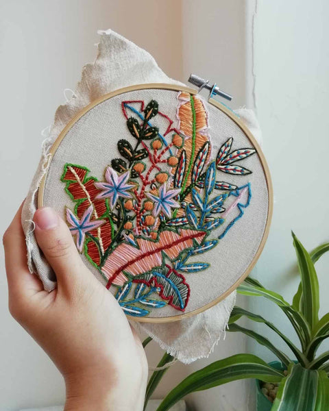 Beginners embroidery class in Leeds at Today Studio