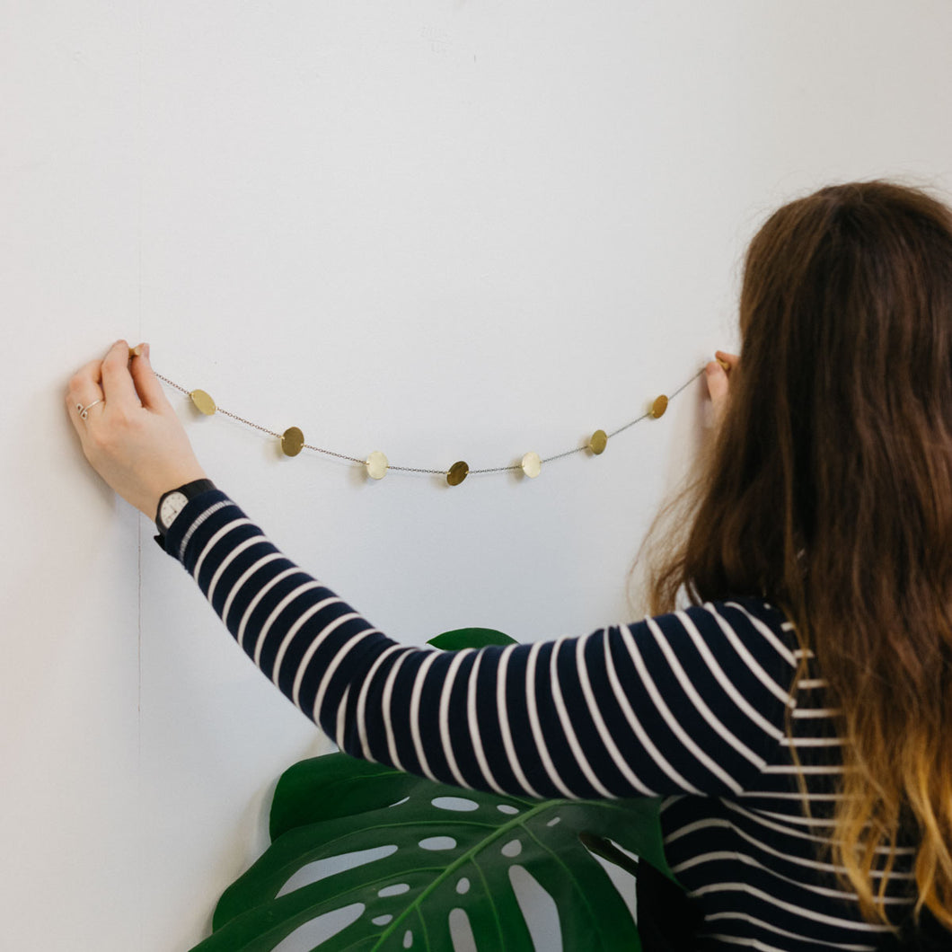 Circle garland made with wall hanging kit by Today