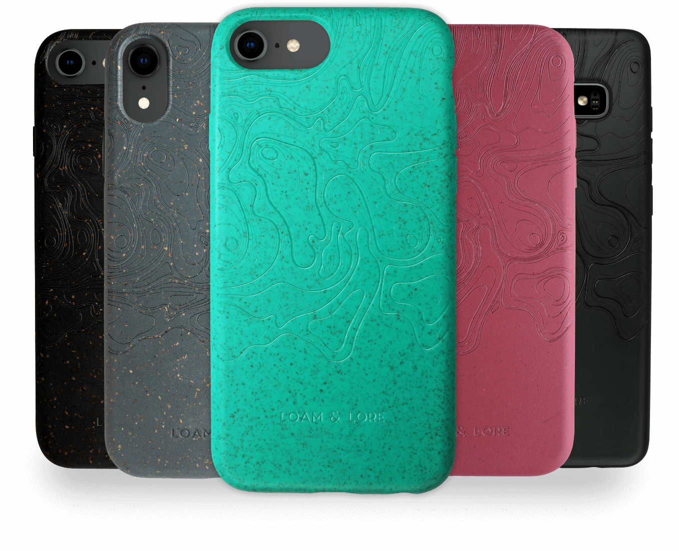 Loam and Lore range of sustainable eco phone cases