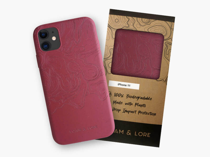 Zero-waste phone case and recycled packaging