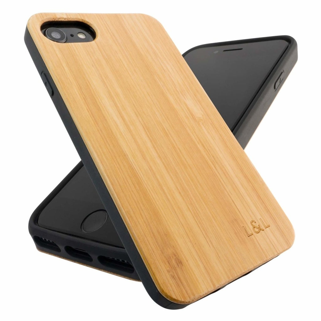 Bamboo iPhone 6/7/8/SE 2020 Wood Phone Case with Eco-Friendly Shell Eco Friendly Products, iPhone, iPhone 6, iPhone 6s, iPhone 7, iPhone 8, iPhone Cases, iPhone SE, iPhone SE 2020, New, Phone Cases Loam & Lore