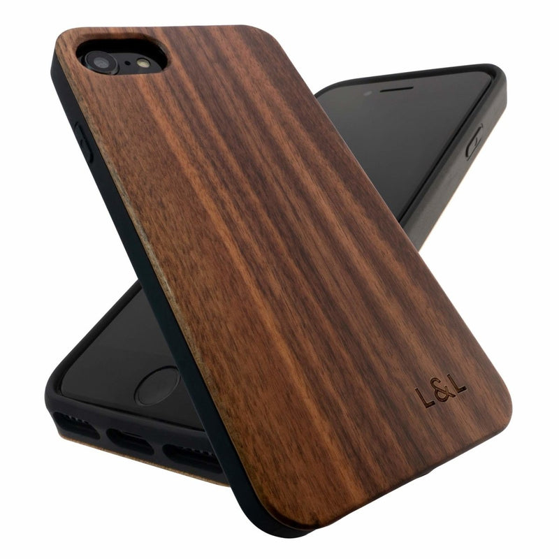Walnut iPhone 6/7/8/SE Case with Eco-Friendly Shell - Loam & Lore