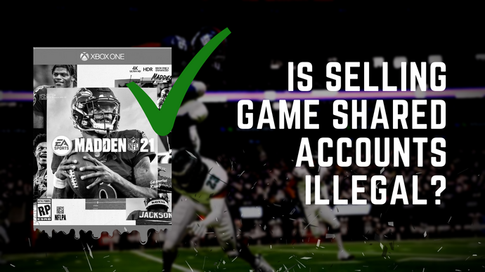Is selling shared game accounts legal?