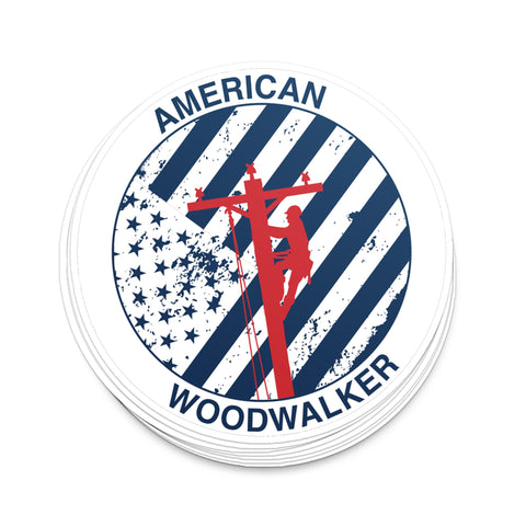 American Woodwalker | Hard Hat Decal