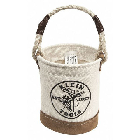 Klein Mini Canvas Buckets with Leather Bottoms