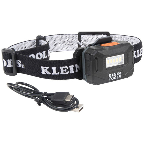 Klein|Rechargeable Light Array Headlamp w/ Strap|260 Lumen|All-Day Runtime