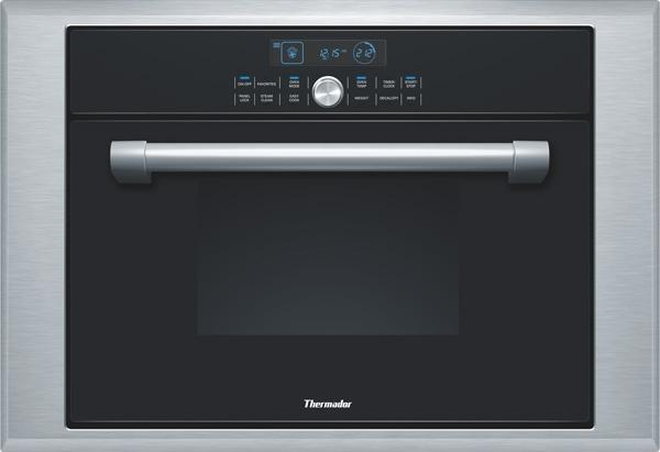"Thermador 24"" 1.4 cu. ft Steam /Convection Wall Oven Black Single Oven MES301HP - ALSurplus AL"