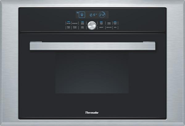 "Thermador Masterpiece 24"" 1.4 cu. ft BLK Single Steam Convection Oven MES301HS - ALSurplus AL"