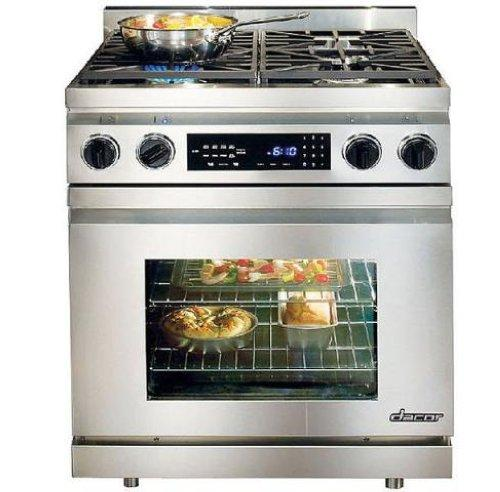 "DACOR 30"" 4 Sealed Burners Convection Pro-Style Dual-Fuel Range DR30DNG - ALSurplus AL"
