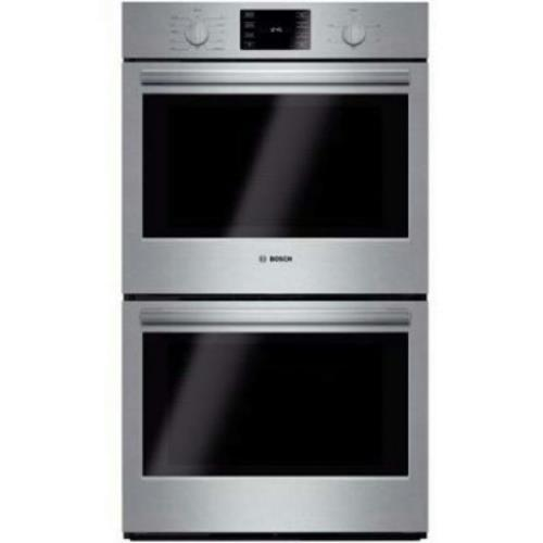 "Bosch 500 30"" European Convection Double Stainless Electric Wall Oven HBL5651UC"