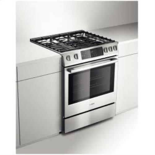 "Bosch Benchmark 30"" 4.8 cu. ft 5 Sealed Burners SS Slide-in Gas Range HGIP054UC - ALSurplus AL"