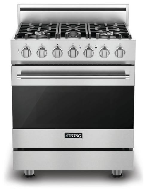 "Viking 30"" Convection Oven Freestanding Dual-Fuel Range, Naturel Gas RVDR3305BSS - ALSurplus AL"
