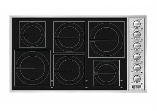 "Viking Professional Serie 36"" MagneQuick 6 Burners Induction Cooktop VICU2666BSB"