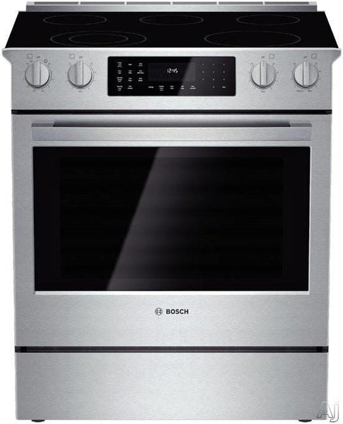 "Bosch 800 Series 30"" Slide-in Electric Range HEI8054U Open Box - Excellent - ALSurplus AL"
