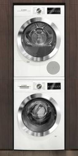 Bosch 800 Series Front Load White Washer And Dryer Set WAT28402UC / WTG86402UC