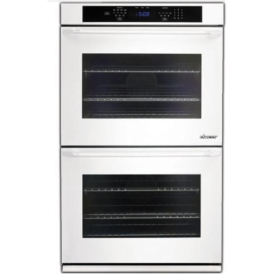 "Dacor Distinctive 30"" White 4.8 cu. ft. Double Electric Wall Oven DTO230W - ALSurplus AL"