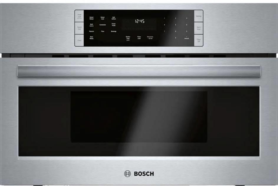 "Bosch 800 27"" Speed Oven Stainless Steel Convection Cooking HMC87152UC Excellent - ALSurplus AL"