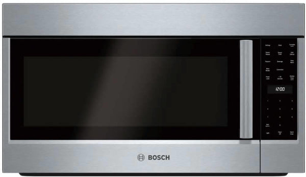 "Bosch Benchmark 30"" SS 385 CFM Convection Over-the-Range Microwave HMVP053U - ALSurplus AL"