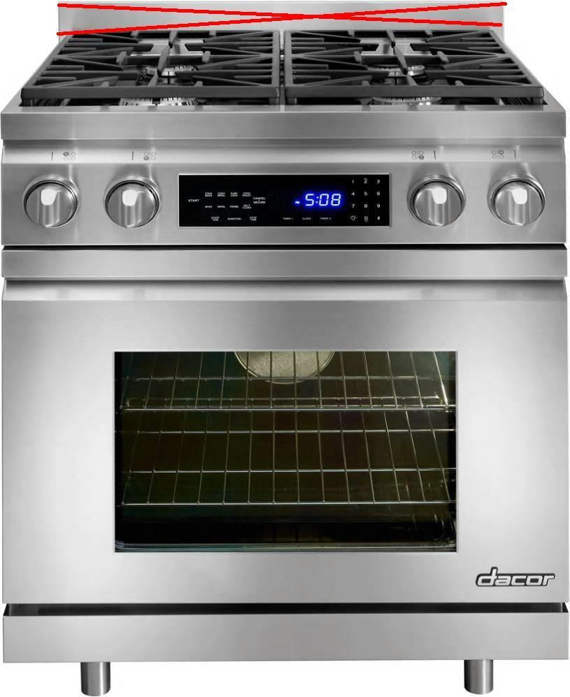 "Dacor Distinctive 30"" 4 Burners Pro-Style Slide-in SS Dual-Fuel Range DR30DING - ALSurplus AL"