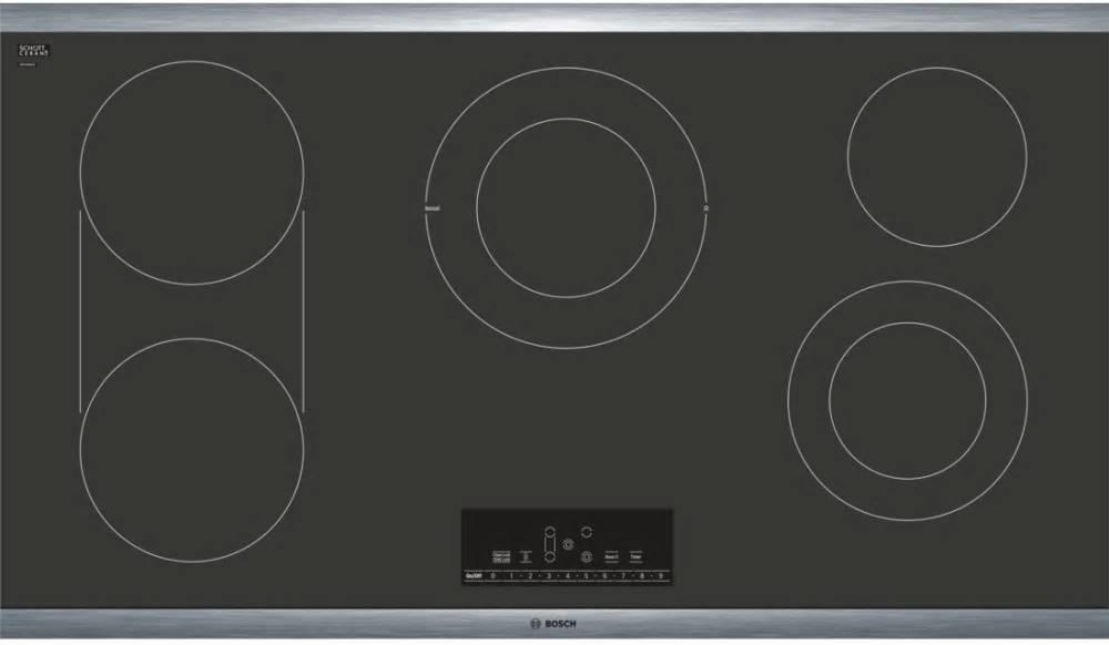 "Bosch Benchmark Series 36"" 5 Heating Elements Electric Cooktop NETP668SUC - ALSurplus AL"