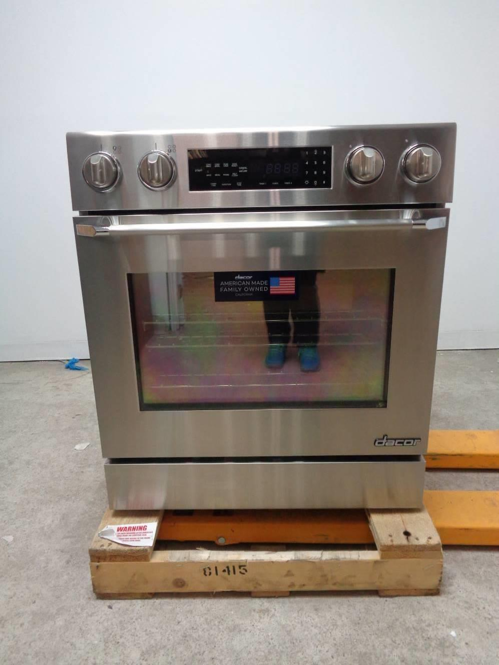Dacor Distinctive 30 Inch 4.8 cu. ft. Convection Slide-In Electric Range DR30EIS - ALSurplus AL