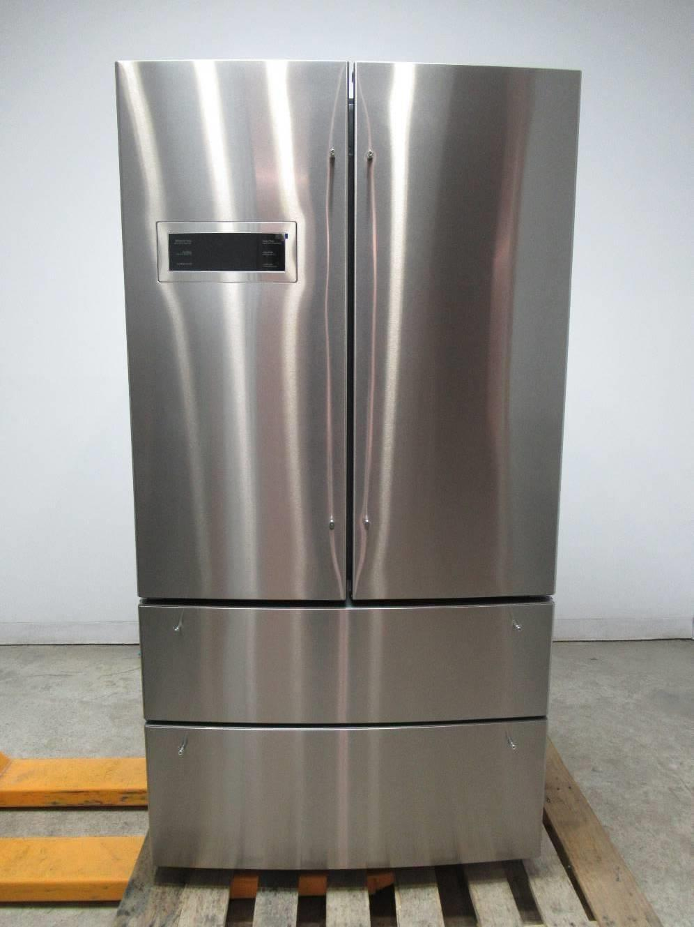 "Bosch 800 series 36"" 20.7 4 Stainless Door French Door Refrigerator B21CL80SNS - ALSurplus AL"