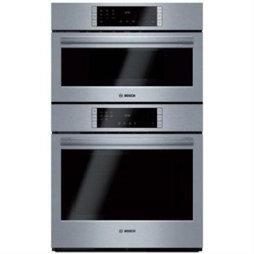 "Bosch 800 Series 30"" 1000W QuietClose Speed Combination Oven HBL8752UC Excellent - ALSurplus AL"