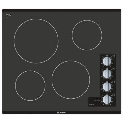 "BOSCH 500 Series 24"" Framless Control Black Glass Electric Cooktop NEM5466UC IMG - ALSurplus AL"