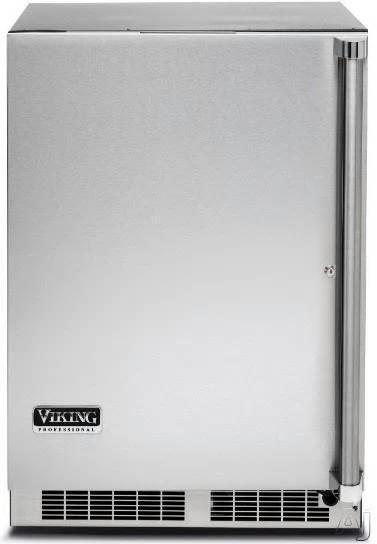 "Viking Professional Series 24"" SS Undercounter Outdoor Refrigerator VRUO5240DLSS - ALSurplus AL"