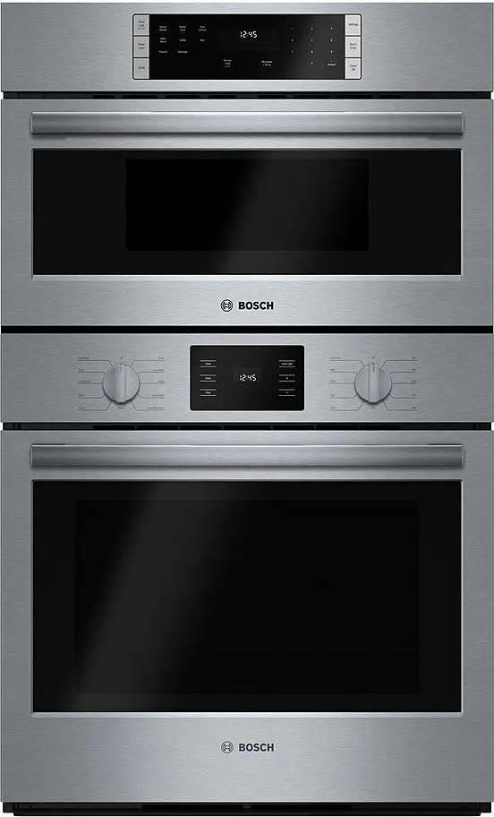 "Bosch 500 Series 30"" Sensor Cooking Self-Clean Combination Oven HBL57M52UC SS - ALSurplus AL"
