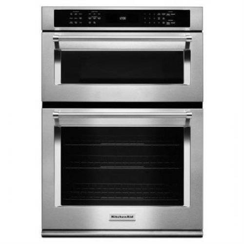 "Kitchenaid 30"" Stainless Steel Built-In Microwave Combination KOCE500ESS - ALSurplus AL"