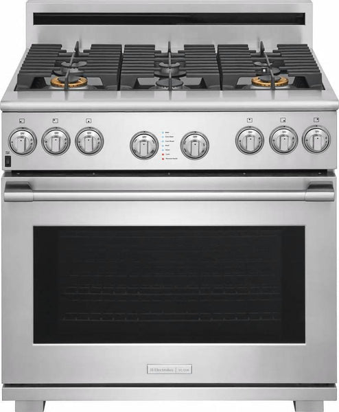 "NIB Electrolux Icon 36"" CustomConvect Convection Dual Fuel Range E36DF76TPS"
