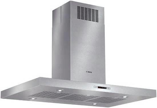 "Bosch 800 Series 42"" + 600 CFM Blower SS Island Chimney Range Hood HIB82651UC - ALSurplus AL"