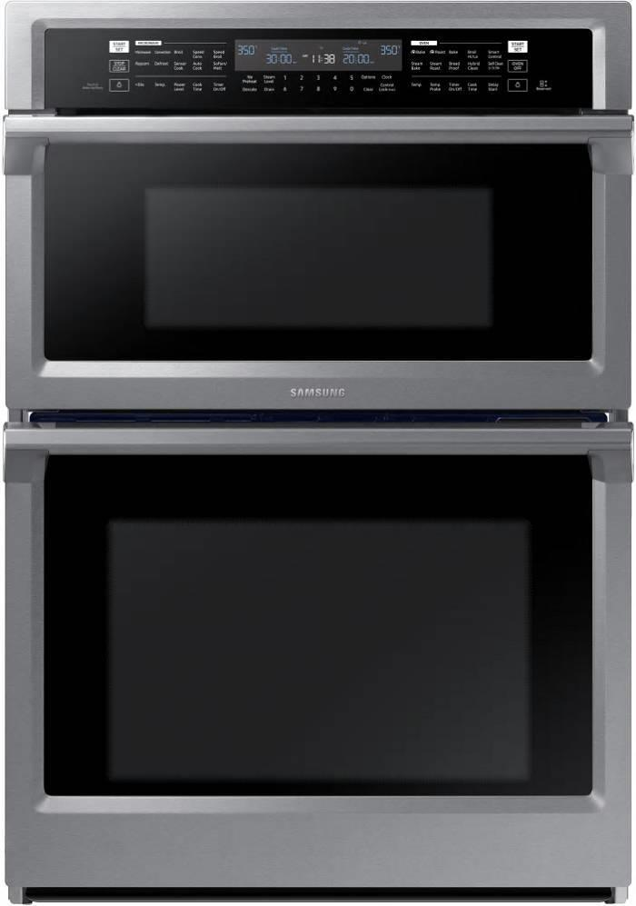 Samsung G 30 Inch Dual Convection Combination Electric SS Wall Oven NQ70M6650DS - ALSurplus AL