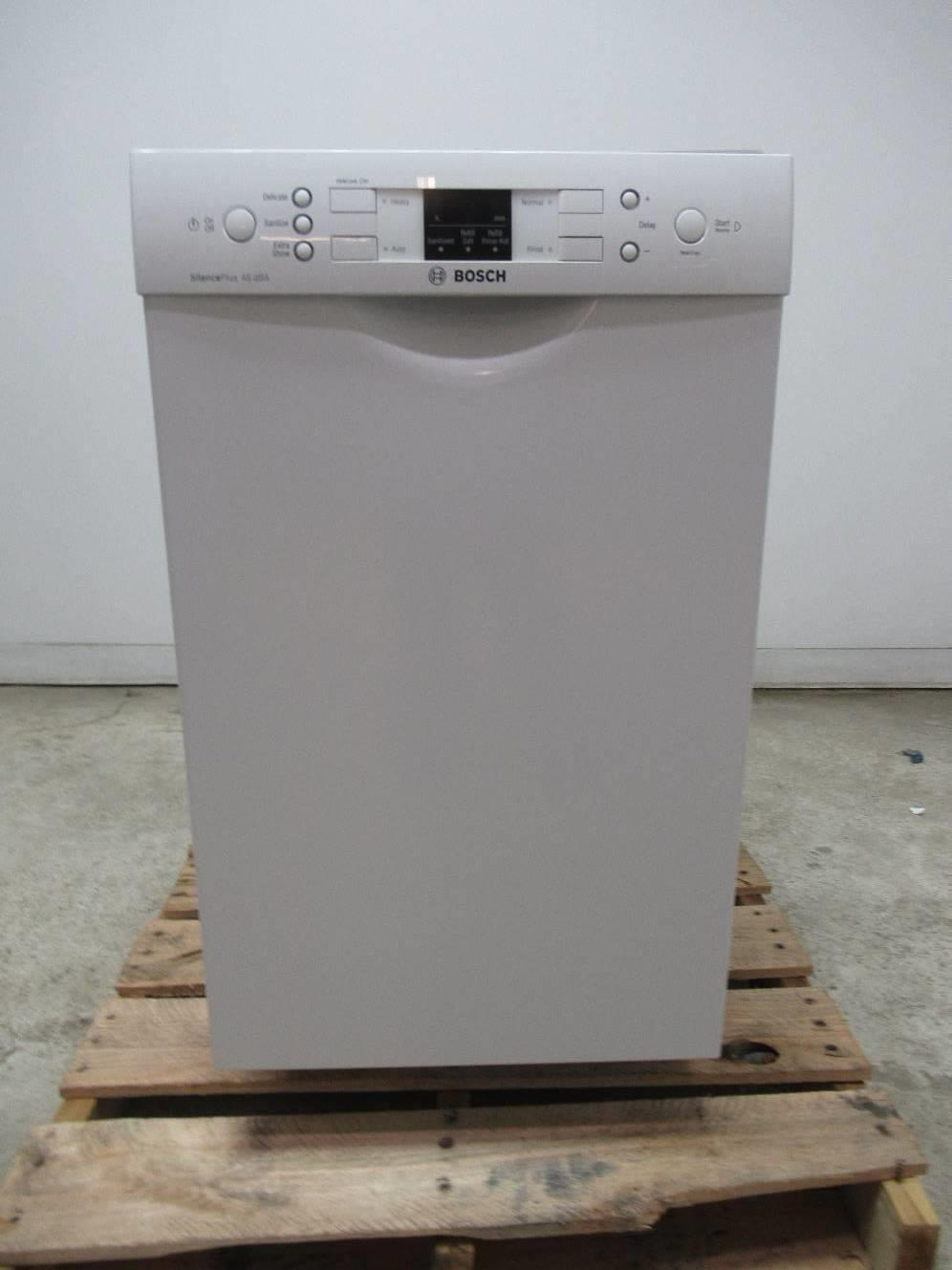 "Bosch 300 Series 18"" 4 Cycles 46 dBA White Full Console Dishwasher SPE53U52UC - ALSurplus AL"