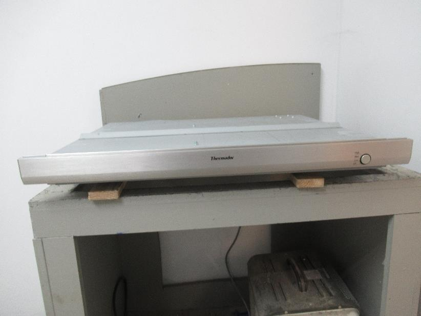 "Thermador 30"" 3-Speed Button Control Inline Stainless DownDraft hood UCVM30FS - ALSurplus AL"