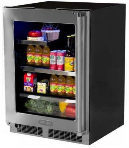 "NIB Marvel MP24BRG3LS 24"" Built-in Refrigerator with 2 Cantilever Glass Shelves - ALSurplus AL"