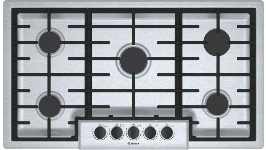 Bosch 500 Series NGM5656UC 36 Inch Gas Cooktop Sealed Burners Stainless Steel - ALSurplus AL