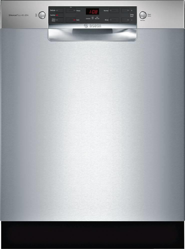 "Bosch 300 Series 24"" 46 dBA AquaStop® Plus Full Console Dishwasher SGE53X55UC - ALSurplus AL"