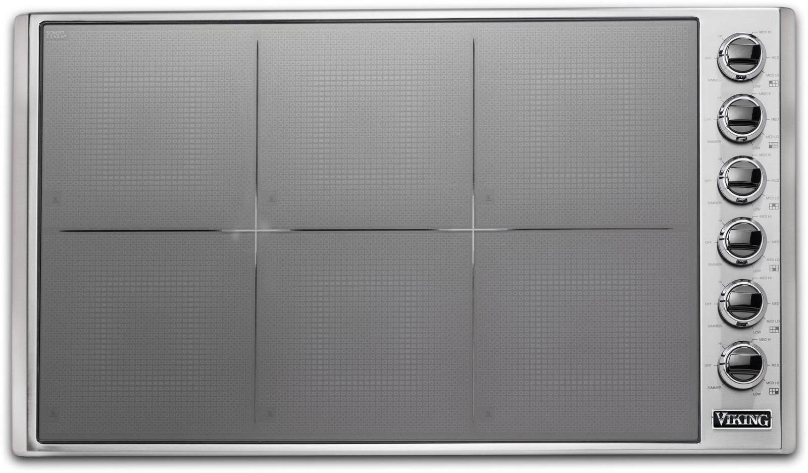 "Viking 36"" Magnequick LED Induction Ceramic Surface Cooktop VICU53616BST Images - ALSurplus AL"