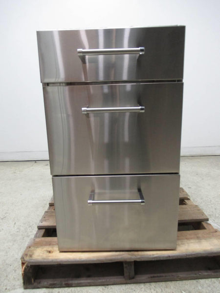Viking Outdoor Series 18 Inch Stainless 3 Drawer Standard Base Cabinet VBO1830SS - ALSurplus AL