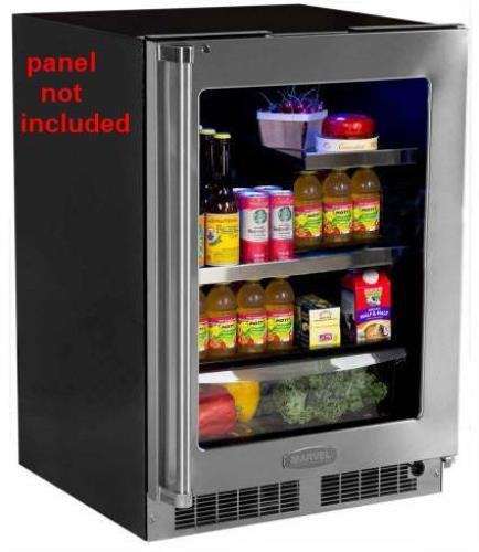 "NIB Marvel MP24BRF3RP 24"" Built-in Refrigerator with 2 Cantilever Glass Shelves - ALSurplus AL"