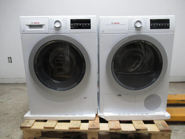 Bosch 500 Series WHT Front Load 15 Progam Washer + Dryer WAT28401UC / WTG86401UC - ALSurplus AL