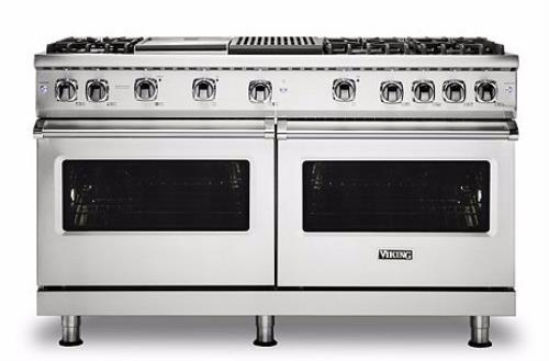 "Viking Professional 5 Series VGR5606GQSS 60"" Freestanding Gas Range Griddle Gril - ALSurplus AL"