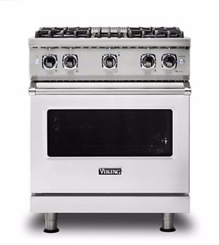 "Viking Professional 5 Series 30"" Freestanding Gas Range VGR5304BSSLP Stainless S - ALSurplus AL"