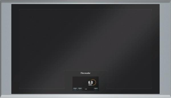 "Thermador Freedom 36"" Digital Touch-Screen Black Induction Cooktop CIT36XKB - ALSurplus AL"