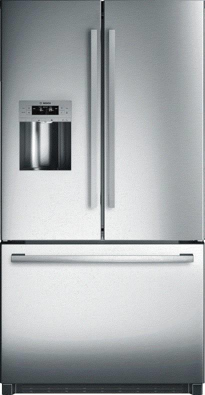 "Bosch 800 Series 36"" SS MultiAirFlow Cooling French Door Refrigerator B26FT50SNS - ALSurplus AL"