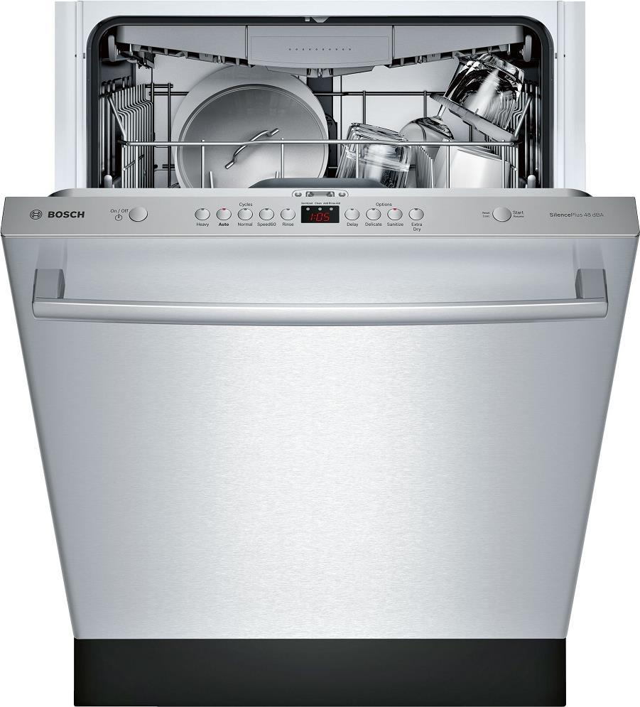 "Bosch Ascenta Series SHXM4AY55N 24"" Fully Integrated Dishwasher Stainless Steel - ALSurplus AL"