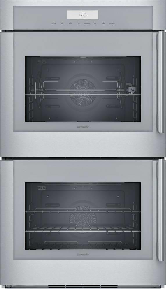 "Thermador 30"" Stainless Halogen Lights 16 Modes Double Wall Oven MED302LWS Image - ALSurplus AL"