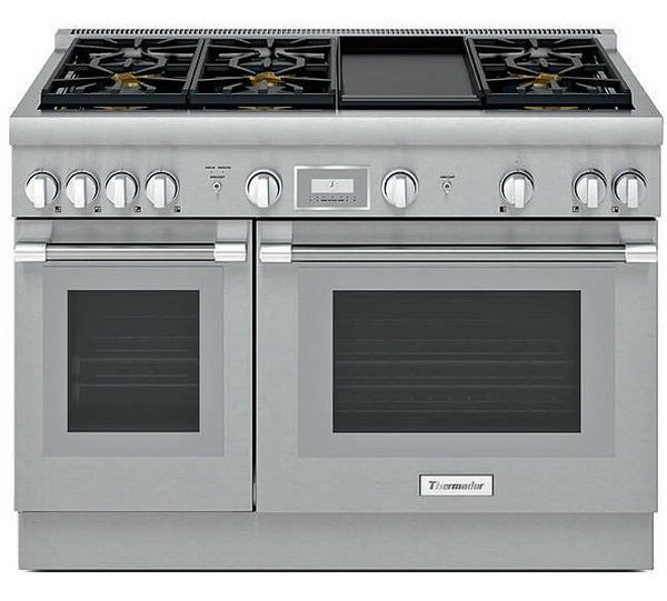 "Thermador 48"" Professional Series Pro Harmony Stainless Gas Range PRG486WDH - ALSurplus AL"